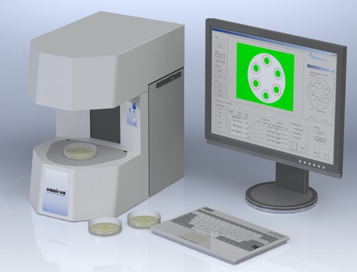 OMNICON Zone Reader - Cylinder Plate Assay, Antibiotic Potency Testing